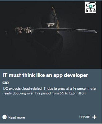 IDC expects cloud-related IT jobs to grow at a 14 percent rate, nearly doubling over this period from 6.5 to 12.5 million.