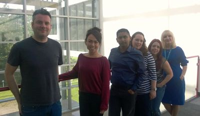 The Software Education ISR team in the Erskine office (casual Friday – we don't normally look like we're having a day off!)