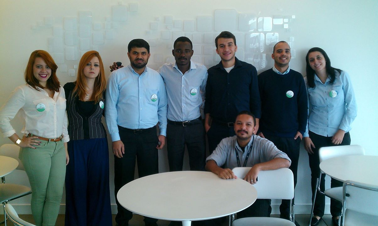 Khalid Mehmood and his colleagues in HPE Brazil