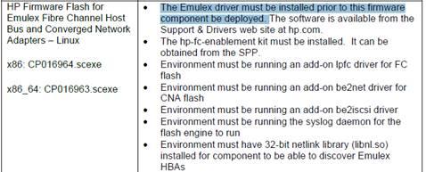 VMware Firmware/Drivers update best practice - Hewlett
