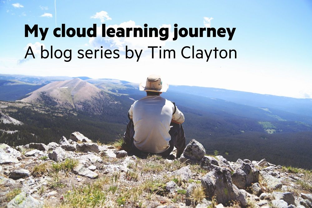 Tim atop the mountain of cloud knowledge