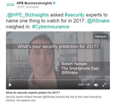 Robert Hansen's prediction for 2017