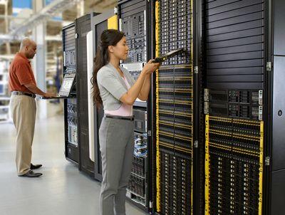 Ein HPE 3PAR StoreServ 7000 in Benutzung