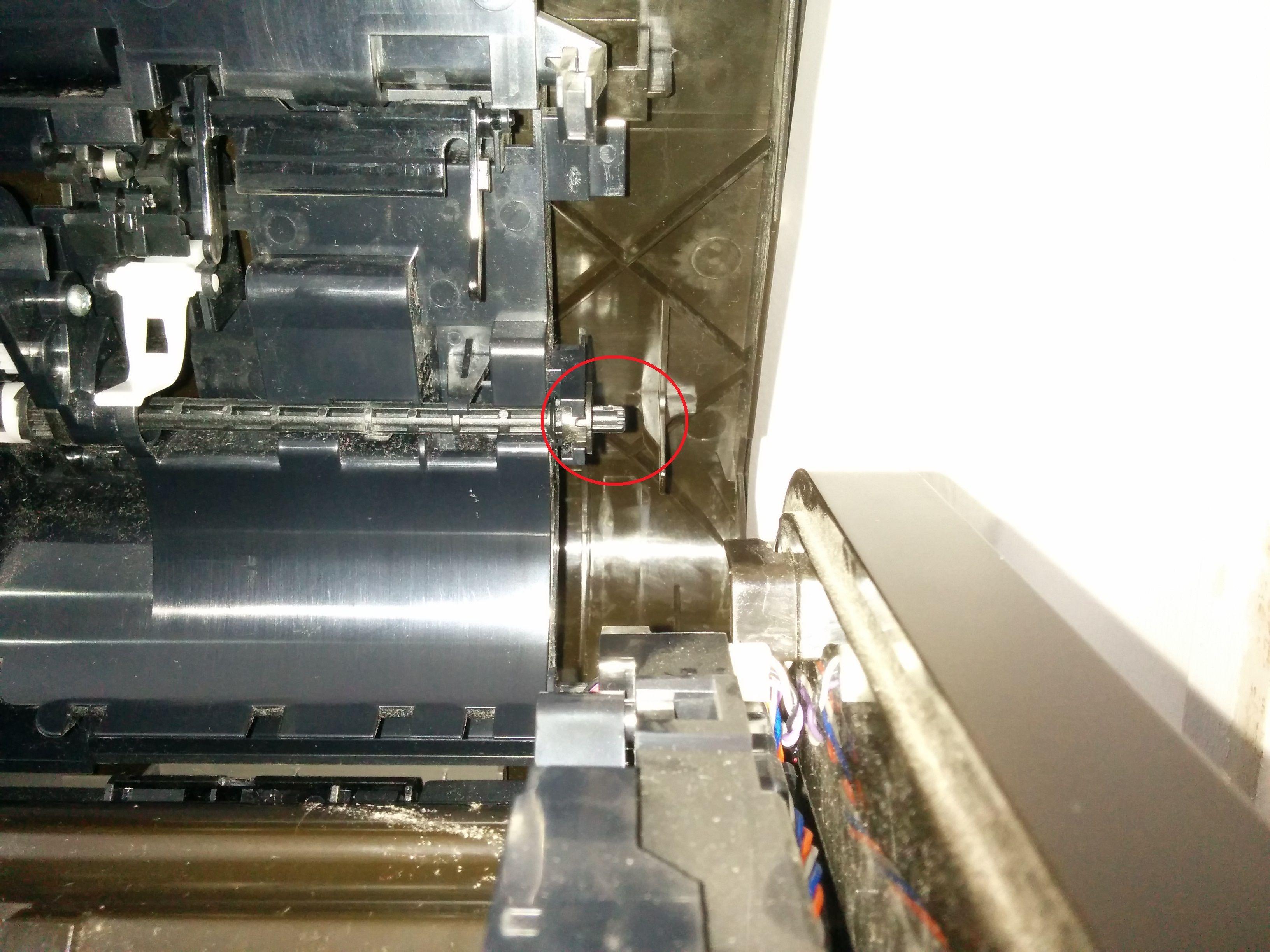 Location in printer