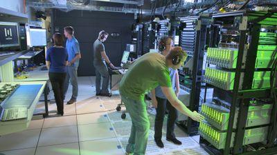 Hewlett Packard Labs engineers working on prototype.jpg