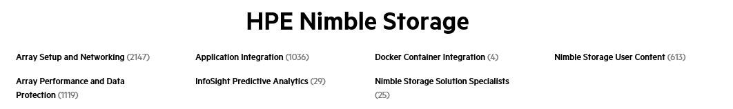 HPE Nimble Storage boards