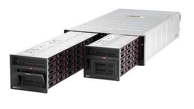 HPE Apollo 4510 Gen10 ist speziell für Objektspeicher ausgelegt und bietet eine der höchsten Speicherkapazitäten in einem 4U-Server mit Standardtiefe